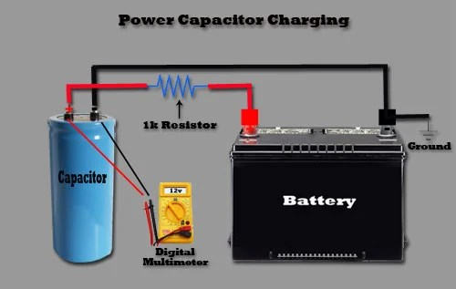 wiring diagram of a car alternator u haul 4 way flat power capacitor functionality: why you need cap | learning center sonic electronix