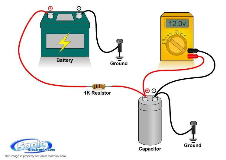 painless wiring installation instructions cat5 to hdmi diagram how charge a capacitor | learning center sonic electronix