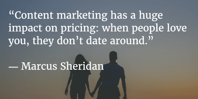 Content marketing and dating