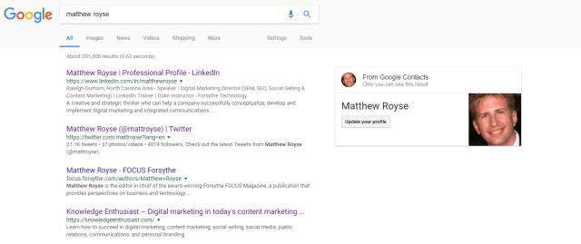 Matthew Royse Google Search