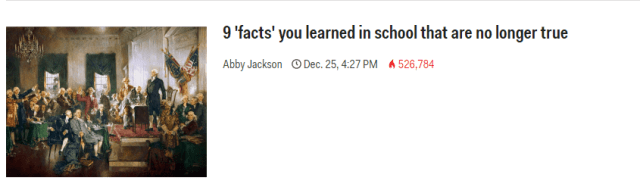 Facts Learned in School Business Insider