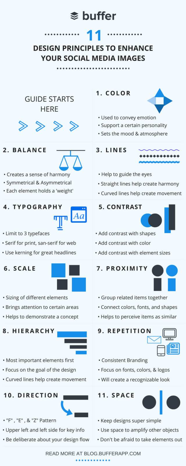 Principles to Improve Your Social Media Images Infographic compressed