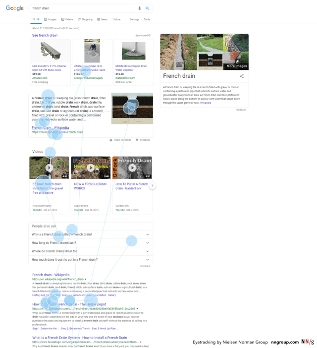 gazeplot google serp frenchdrain p marked