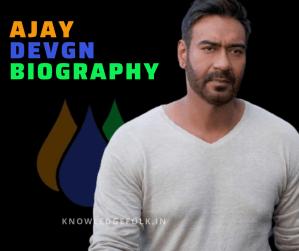 Ajay Devgan Biography knowledge folk
