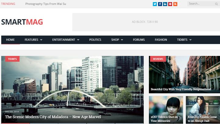 WordPress Premium Themes Smartmag