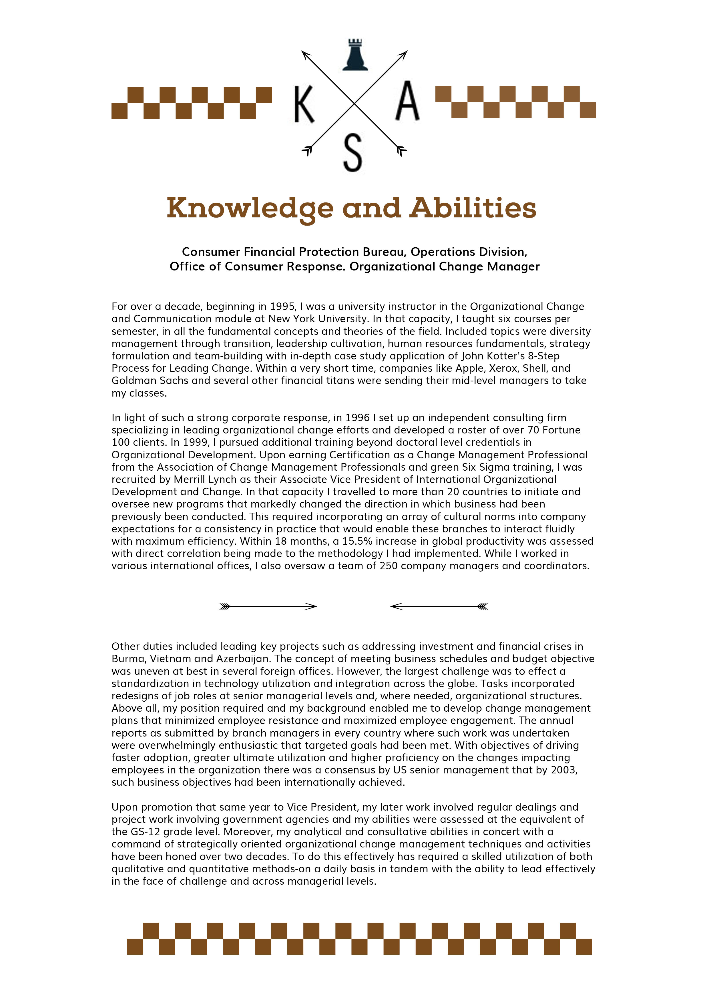 Resume Writing Skills And Abilities Knowledge Skills And Abilities Example