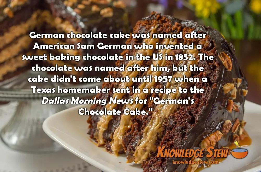 German Chocolate Cake Facts History