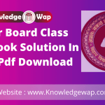 Bihar Board Class 12th Book Solution In Hindi Pdf Download