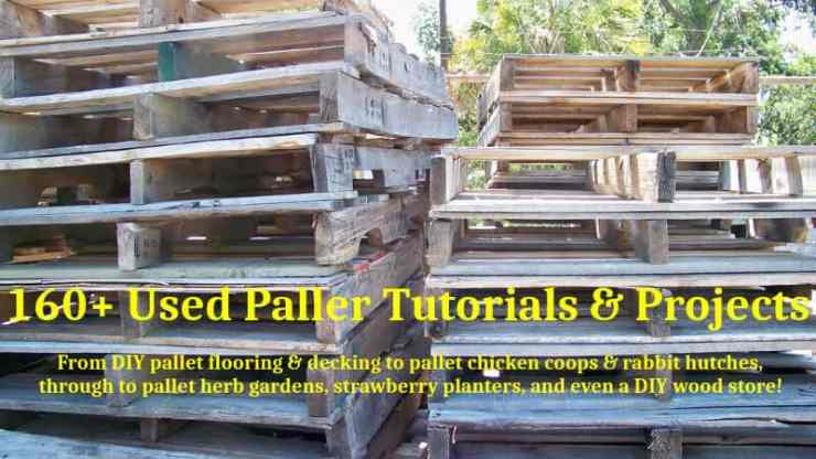 160 DIY pallet tutorials and projects