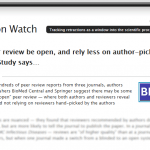 Screenshot of Retraction Watch post: http://bit.ly/1M0tJO8