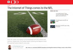 Screenshot CIO Story on IoT in NFL by Thor Olavsrud http://bit.ly/1Zio3Zx