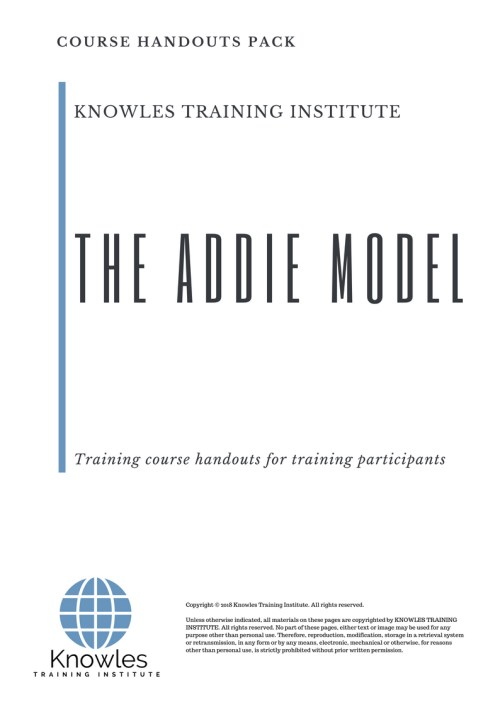 small resolution of the addie model course handouts
