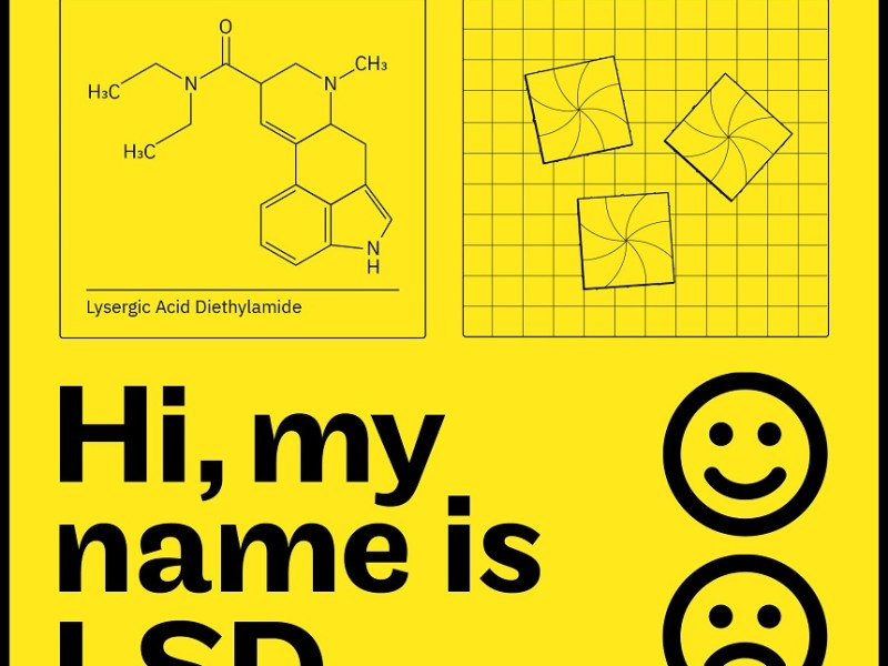 Image, chemical structure of LSD