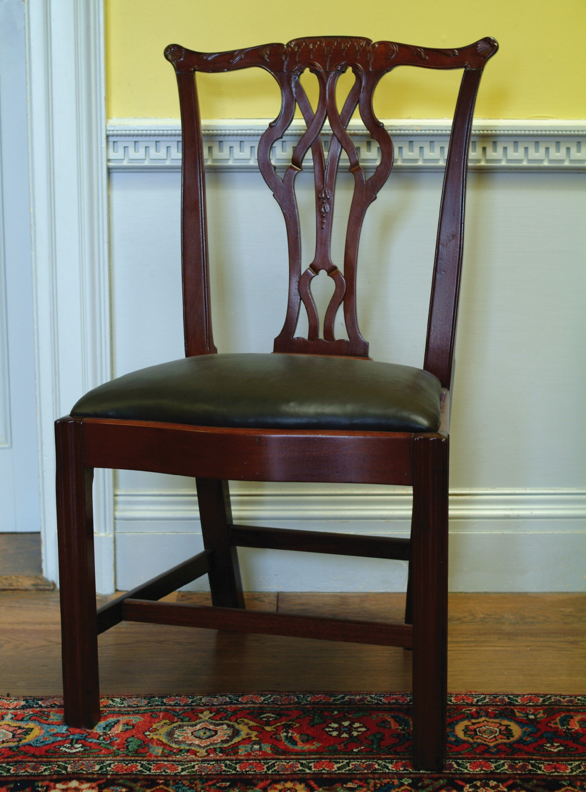 chippendale dining chair modern orange chairs style ca 1780 knox museum