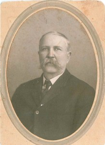 Black and white of man with large mustache