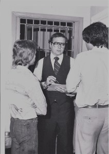 Officers talking in 1970-ish