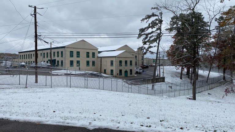KCSO Work Release Center with snow on ground