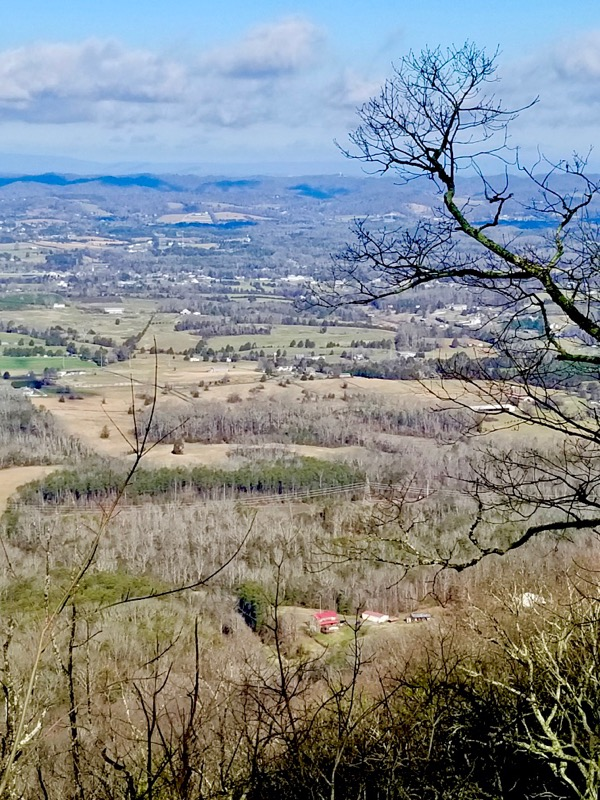View of Knox County from top of house mountain