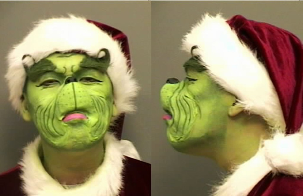 The grinch mugshot