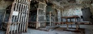 Old run down jail room