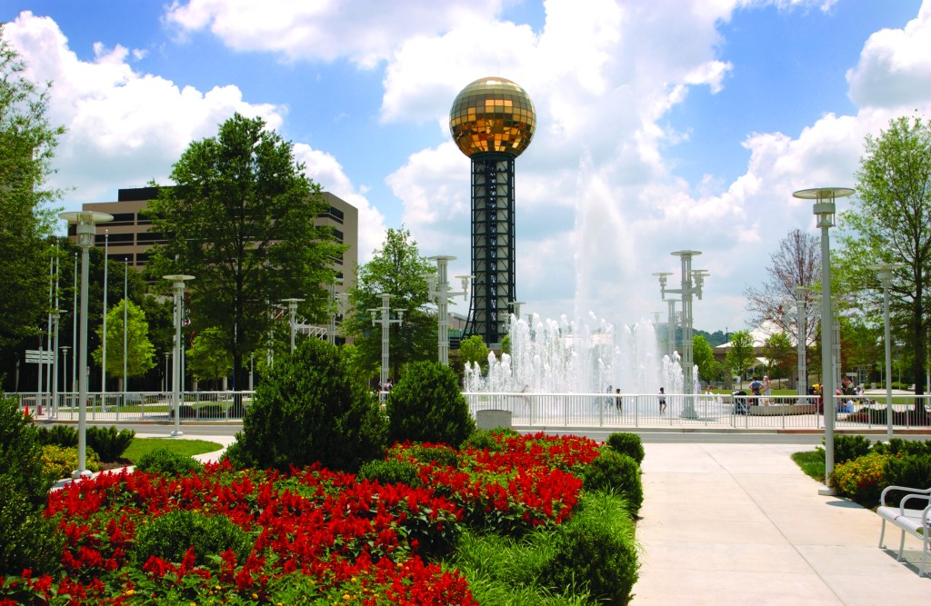 The Sunsphere in downtown Knoxville, Tennessee.