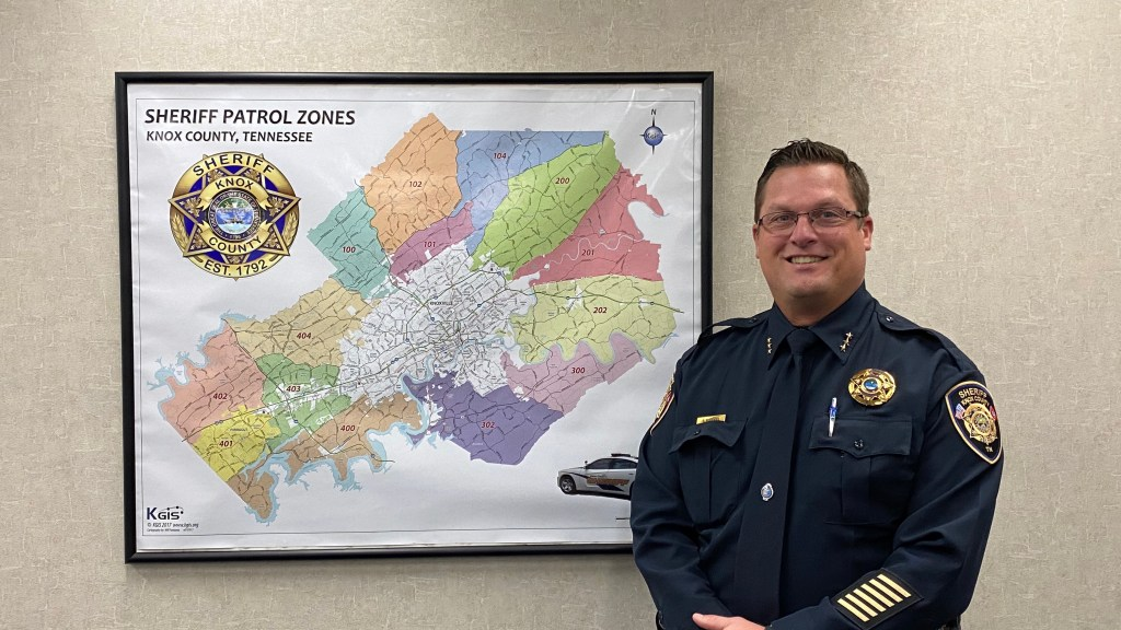 Chief Workman Smiling near Knox County map