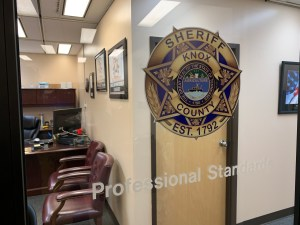 OPS glass entrance with KCSO badge