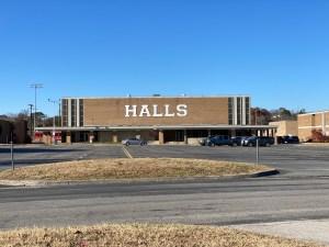 Entrance to Halls High School Gym