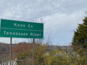 Knox County Tennessee River sign