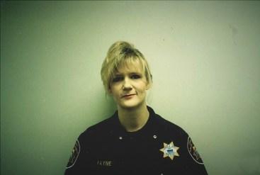 Angela Payne in uniform