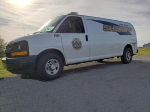 KCSO transportation van parked on pavement