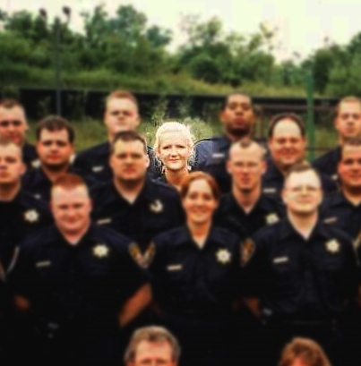 Highling of Officer Payne with other recruits