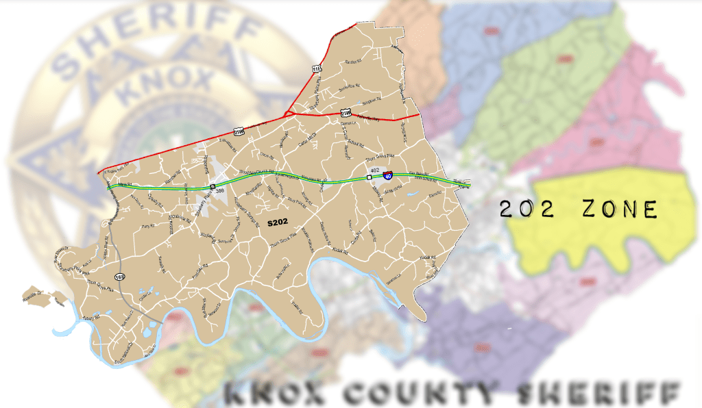 Close up map of Zone 202