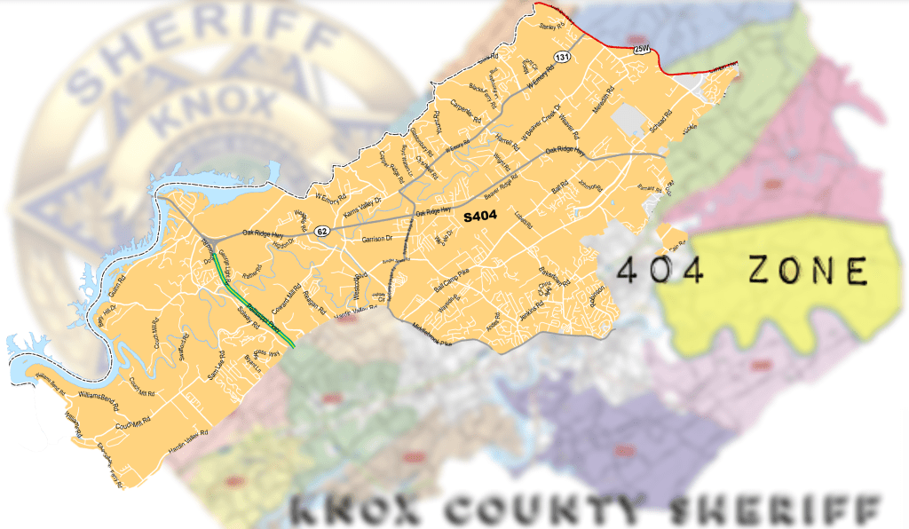 Close up map of Zone 404