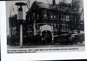 Older newspaper image of the Old Courthouse