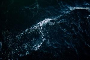 Blue wavy water