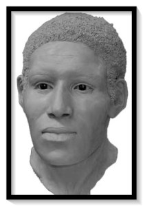 Reconstructed bust of unidentified male