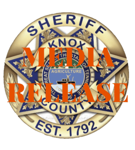 "KCSO badge with ""media release"""