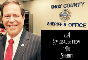 "Sheriff Spangler spiling with ""A Message from the Sheriff"""