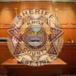 KCSO badge overlay court bench