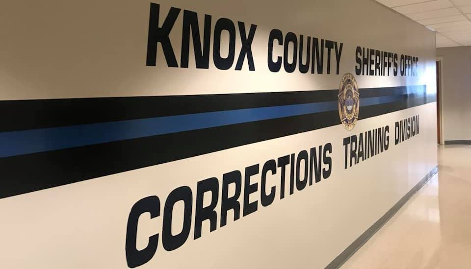 KCSO Corrections Training wall logo