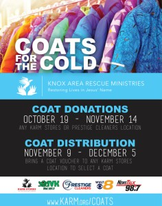 "Coates hanging with ""coats for the cold"""
