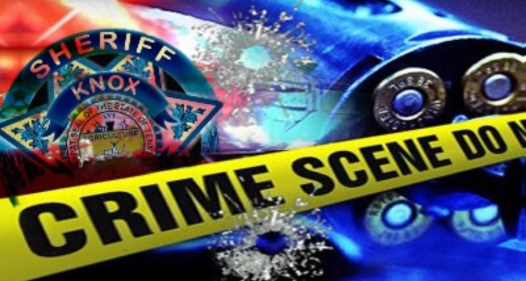 Crime Scene Tape Overlay KCSO Badge and Revolver