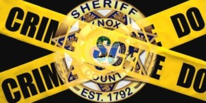 KCSO badge overlay with Crime Scene tape