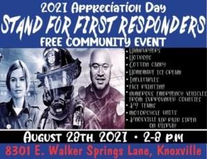 Flyer for 2021 First Responder Appreciation Day