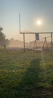 Mud volleyball field