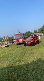 Fire department at mud volleyball