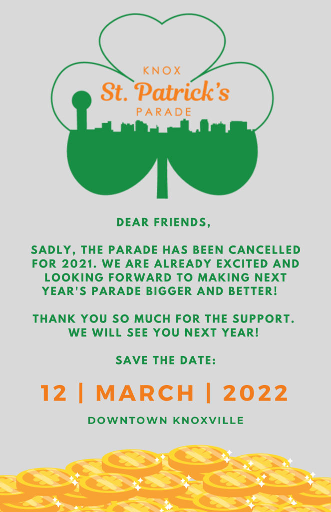 St Patricks parade in Knoxville 2022