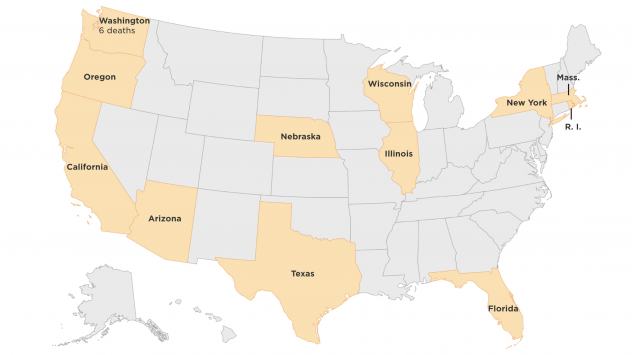 Which U.S. States Have Confirmed Coronavirus Cases? | Nevada ...