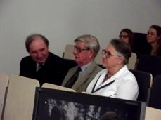 Od lewej: prof. Aleksander Kośko, prof. Michał Kobusiewicz, prof. Hanna Kóčka-Krenz